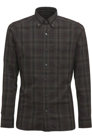 TOM FORD Check Tartan Cotton Leisure Shirt
