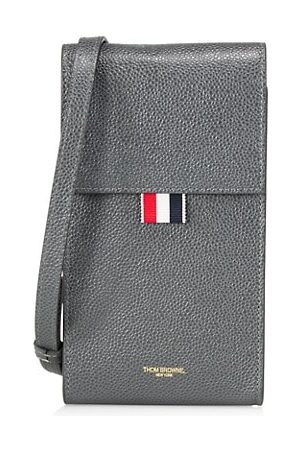 Thom Browne Leather Crossbody Phone Holder