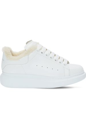 Alexander McQueen 45mm Leather & Shearling Sneakers