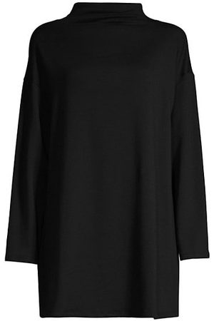 Eileen Fisher Funnel-Neck Tunic