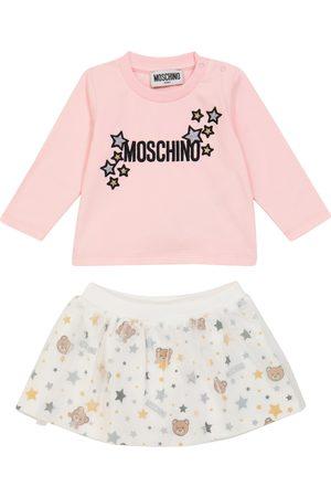 Moschino Baby embroidered skirt set