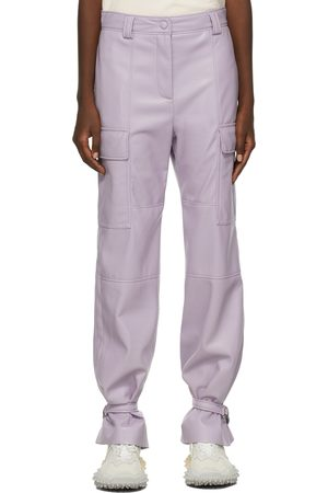 MSGM Faux-Leather Cargo Pants