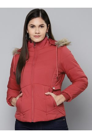 Foreign Culture By Fort Collins Women Red Hooded Parka Jacket