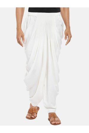 Pantaloons Men Off-White Solid Salwar