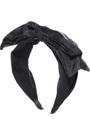 Blueberry Women Black Handcrafted Hairband with Net Bow Detail