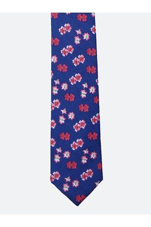 Tossido Men Blue & Pink Printed Broad Tie