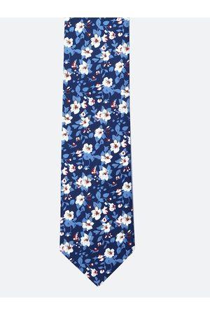 Tossido Men Blue & White Printed Broad Tie