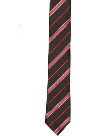 Tossido Men Black & Red Striped Skinny Tie