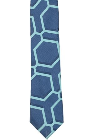 Tossido Men Blue & Turquoise Blue Printed Skinny Tie