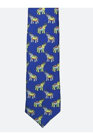 Tossido Men Blue & Grey Printed Broad Tie