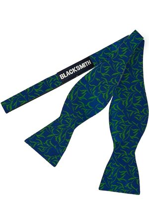 Blacksmith Men Green & Blue Printed Ascot Tie