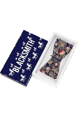 Blacksmith Men Purple Printed Bow Tie