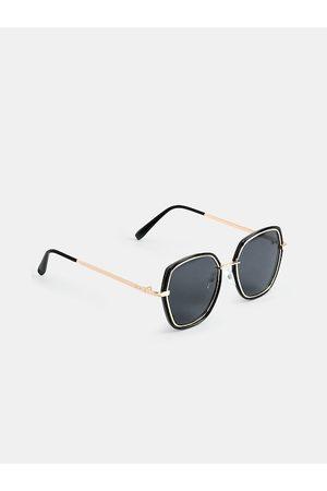 DukieKooky Unisex Kids Black Lens & Black Oversized Sunglasses with UV Protected Lens