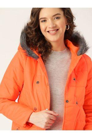 DressBerry Women Orange Parka Jacket