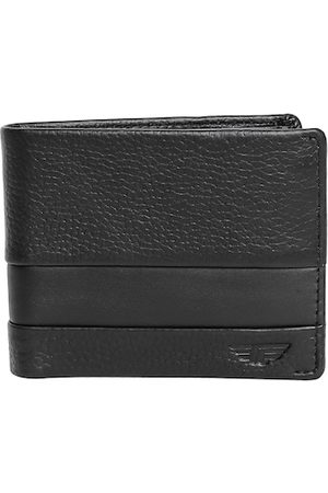 Red Tape Men Black Textured Leather Two Fold Wallet with RFID