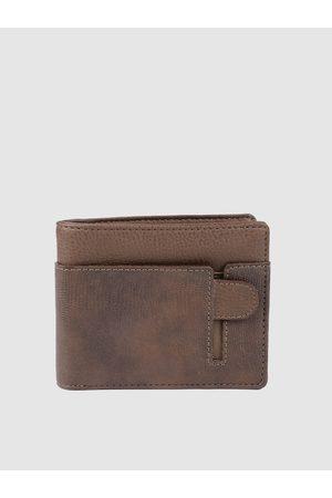 Baggit Men Brown Animal Textured Two Fold Wallet