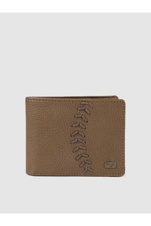 Baggit Men Brown Solid Stitch Work Two Fold Wallet