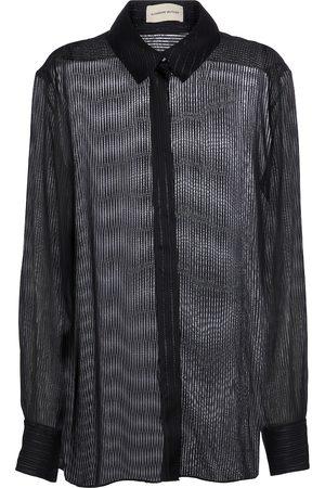 ALEXANDRE VAUTHIER Lurex® chiffon shirt