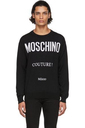 Moschino & White Wool 'Couture!' Sweater