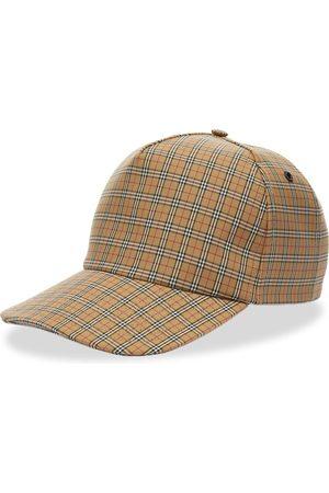 Burberry Men Caps - Micro Check Trucker Cap