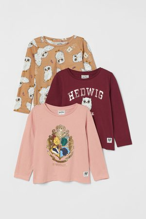 H&M Girls Tops - 3-pack printed jersey tops