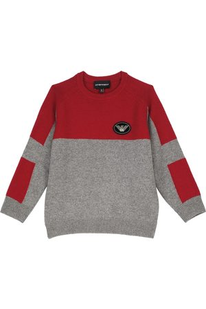 Emporio Armani Boys Jumpers - Wool and cashmere-blend crewneck sweater