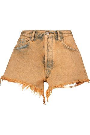 Alanui Valparaiso high-rise denim shorts