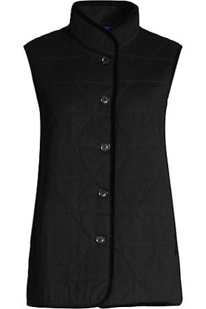 Jane Post Quilted Wool-Blend Vest