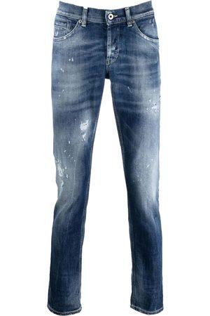 Dondup George distressed skinny jeans blauw up232-ds0107u-bq4 - 800