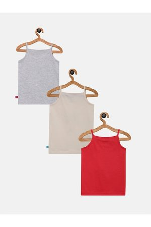 Aomi Unisex Kids Multicolored Pack of 3 Tank Tops