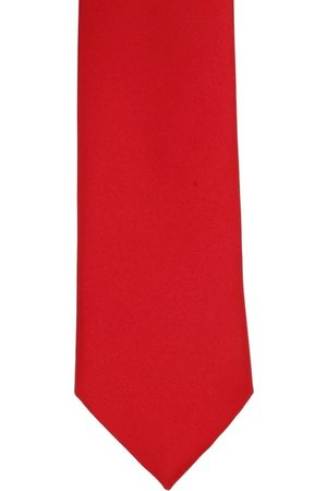 Alvaro Castagnino Men Red Solid Microfiber Broad Tie