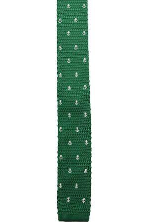 Alvaro Castagnino Men Neckties - Men Green Woven Designed Broad Tie