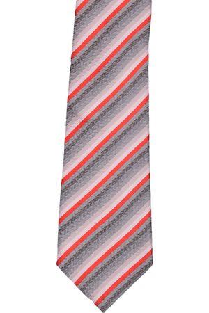 Alvaro Castagnino Men Orange & Grey Broad Tie