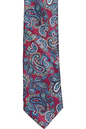 Alvaro Castagnino Men Blue & Maroon Printed Broad Tie