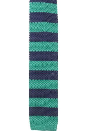 Alvaro Castagnino Men Green & Blue Broad Tie