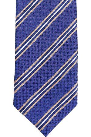 Alvaro Castagnino Men Blue & Beige Striped Broad Tie