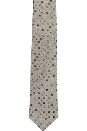 Alvaro Castagnino Men Grey & Black Woven Design Broad Tie