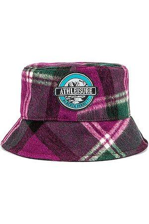 Alberta Ferretti Athleisure Bucket Hat in Fantasy Print Violet