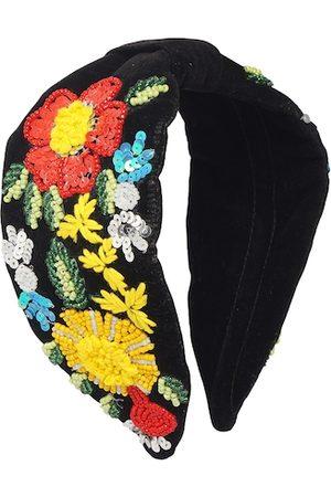 Bella Moda Women Black & Yellow Embellished Hairband