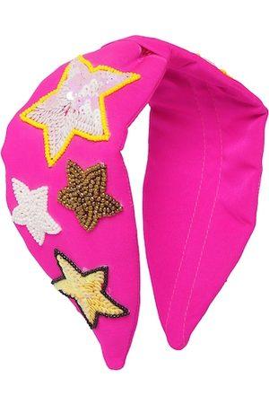 Bella Moda Women Pink & Yellow Embellished Hairband