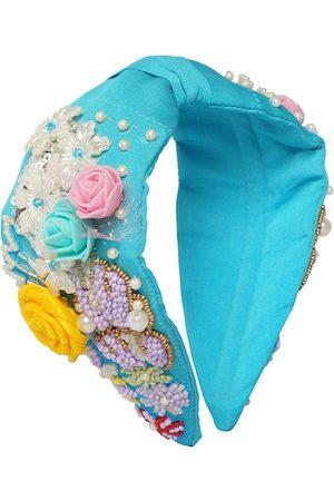 Bella Moda Women Blue & Yellow Embellished Hairband