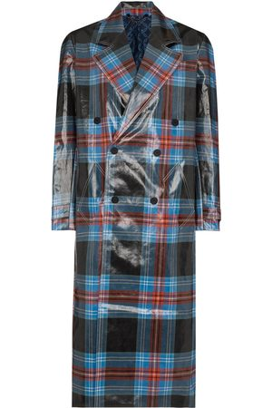 Charles Jeffrey Loverboy Women Trench Coats - Tartan-check wool-blend trench coat