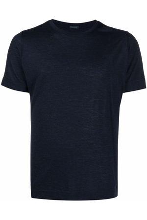 ZANONE Short-sleeved virgin wool T-shirt