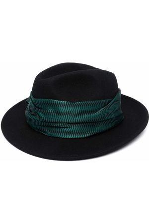 Emporio Armani Patterned-Foulard Fedora hat