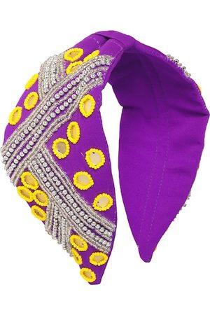 Bella Moda Women Purple & Yellow Embellished Hairband
