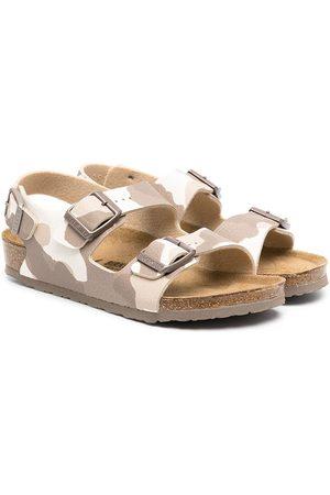 Birkenstock Kids Camouflage-print sandals