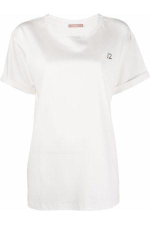 12 STOREEZ Embroidered-logo oversized T-shirt