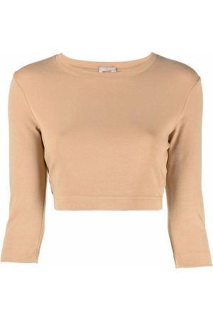 12 STOREEZ Cropped long-sleeved top