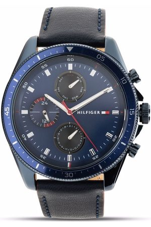 Tommy Hilfiger Leather strap multifunction 44mm