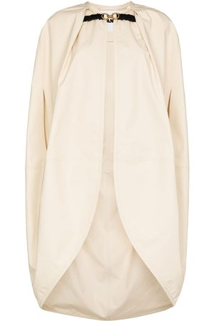 Jil Sander Buckled-clasp cocoon cape